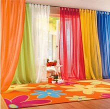 Brand new 2015 Window Curtains hot sale Solid Color For living Room Bedroom Curtains Window Home Decor VB250 P12(China (Mainland))