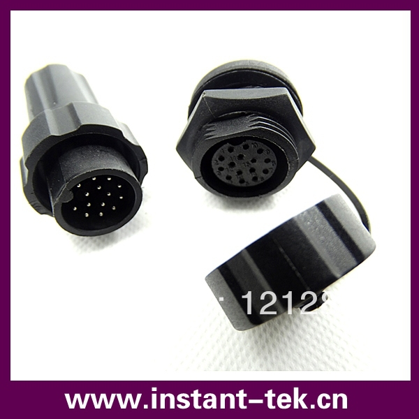 15 pins IP68 waterproof connector 15 contacts panel type adapter<br><br>Aliexpress