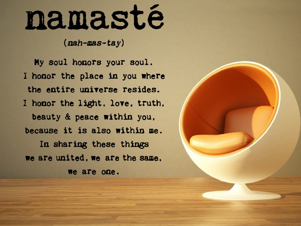 Yoga Mandala Om Indian Buddha namaste quote Wall Decal Home Decor Wall Sticker home decoration