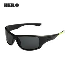 Retro Brown Fishing/Driving Sun Glasses Men Oculos Masculino 2016 Vintage Polarized Lens Eyewear Goggles UV400 Sports Sunglasses