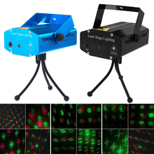 Buy Voice-Activated Mini LED Laser Projector Red & Green Stage Lighting Effect Patterns DJ Disco Xmas Party Club Light disco light for $22.90 in AliExpress store