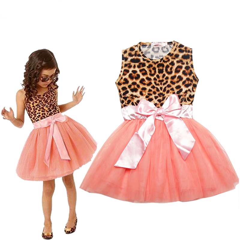 New Arrive Girls Dresses Fashion Casual Summer Sleeveless Tutu Dress 2016 Kids Girl Party Clothes 2-7Y Children Vetement Fille(China (Mainland))