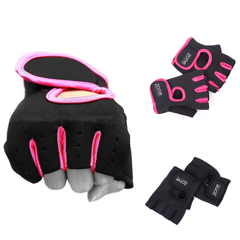 Durable Hot Sale Weight Lifting Leather Padded Gloves Fitness Traning Gym Sports 1 Pair 61168