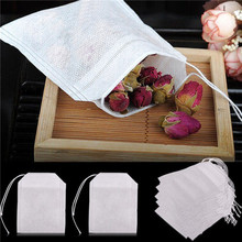 Brand New  50Pcs Empty Teabags String Heat Seal Filter Paper Herb Loose Tea Bags(China (Mainland))
