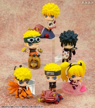 Q Edition Naruto Shippuden GEM Naruto Sasuki 6Pcs/Set 6CM Tall PVC Action Figure Special Ver.4