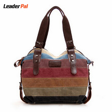 Women Handbags 2016 New Fashion Handbag Canvas Shoulder Bag Satchel Striped Casual Tote Bags Vintage Crossbody Bags for Women