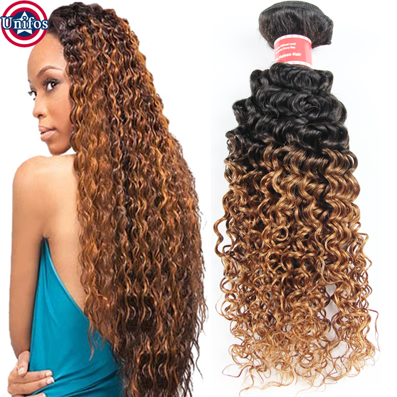 Curly Ombre Hair Extensions Peruvian Virgin Hair Two Tone Human Hair Tissage Peruvian Ombre Hair Bundles Ombre Curly Weave LW001<br><br>Aliexpress
