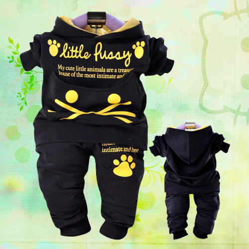 Free shipping! 2013 New Childrens clothing cat infant boy twinset sports suit  baby clothing sets track suit  autumn and spring<br><br>Aliexpress