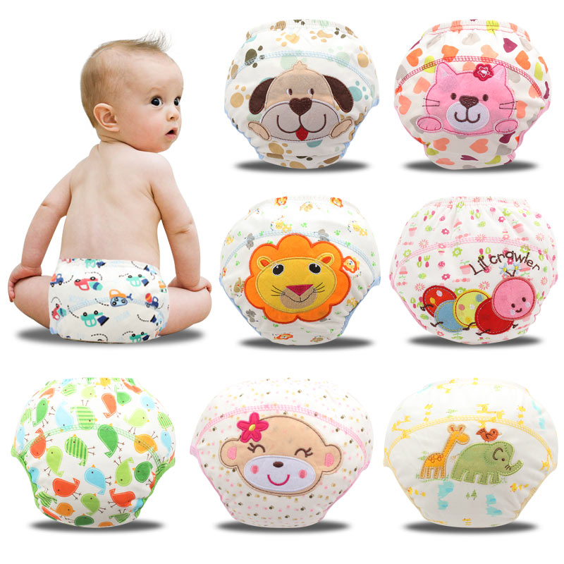 1Pcs Baby Reusable Nappies Baby Training Pants Breathable Children Cloth Diaper 45*15cm Cotton Insert Washable Cloth Diapers
