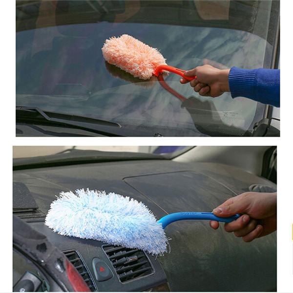 New Folding Convenient Mini Fiber Car Wax Brush,Desk Wash Duster Dust Brush Cleaner 3 Colors High Quality HO673959(China (Mainland))