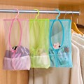 Multi function Space Saving Hanging Mesh Bags Clothes Organizer for Bedroom