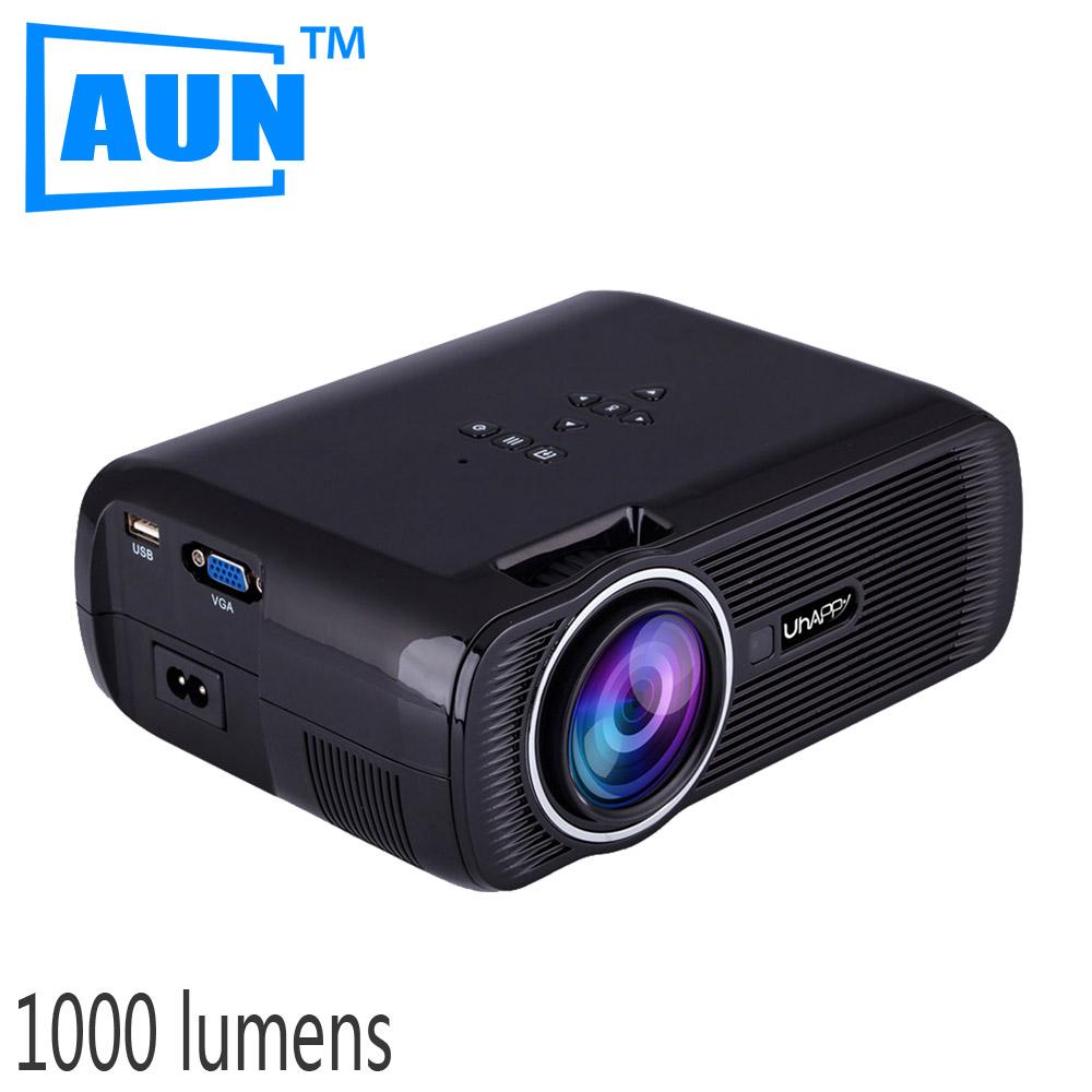 AUN MINI Projector 1000 Lmens LED Projector 800x480 Support 1080P Home Cinema Videoprojecteur U80XG9