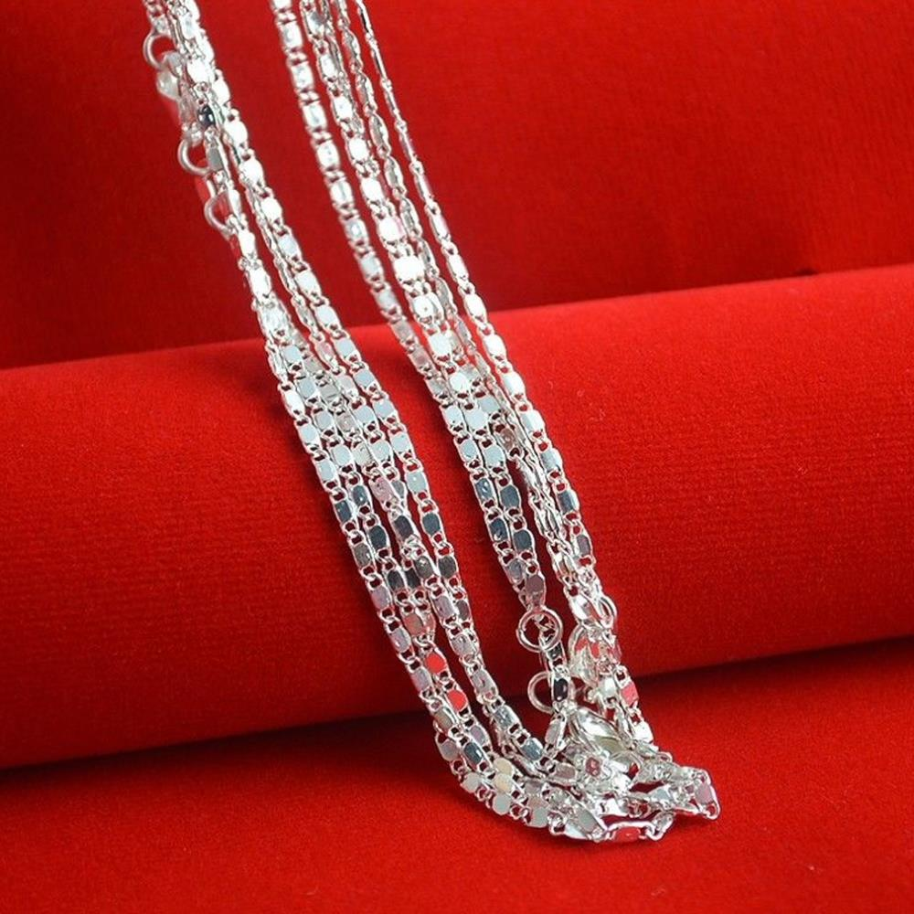 "Wholesale Hot 1 PCS 925 Sterling Silver Chain / Necklace - 16"" Inches N128-16"" HIgh Quality 925 sterling silver chain necklace(China (Mainland))"