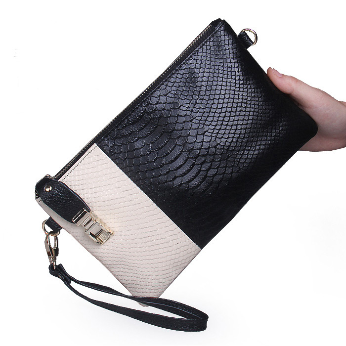 Hot Sale 2016 Direct Selling Single Handbags New Animal Skin Clutch Bag Women's Ladies' Day Clutches Women Messenger Bags(China (Mainland))