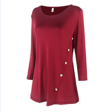 Women T Shirt 2016 Summer Style 80%Cotton Sexy Top Pure Color T-Shirt Women Fashion Loose Long-Sleeved O-Neck Tees Shirts(China (Mainland))