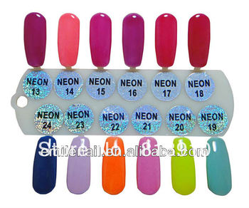 Free shippng 2013 factory NEON 24 soak off uv one step gel nail polish (1lot=12pcs)