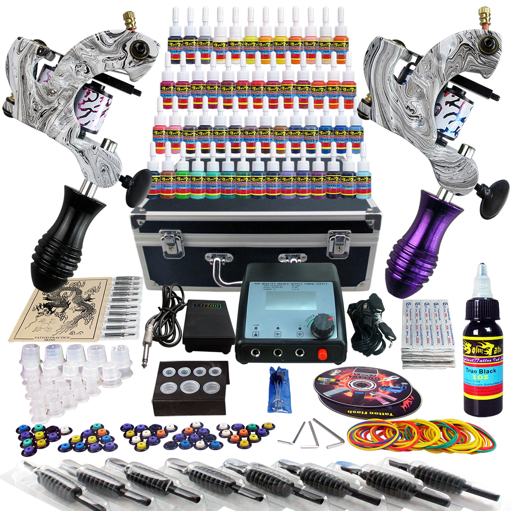 Solong tattoo taty complete tattoo kit 2 tattoo machine for Cheap tattoo ink