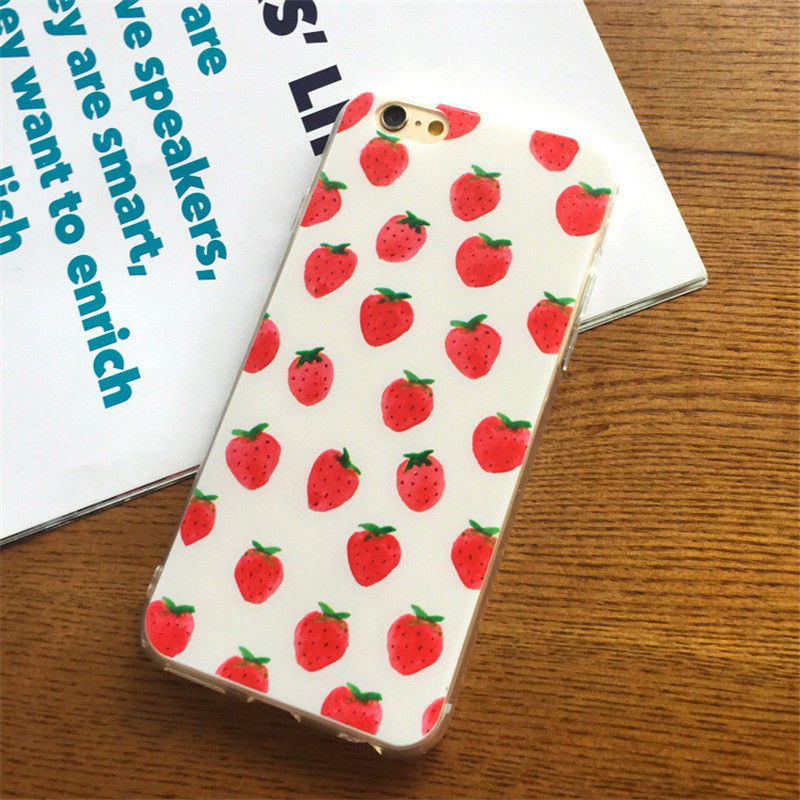 I6 High quality TPU Fruit Series Coque Cover Case For iphone 5 5S SE 6 6s/6 Plus 6s Plus Beautiful lovely Ultra thin Soft Shell