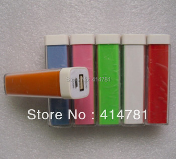 100pc/lot lipstick 2600mAh Universal Backup USB Battery Power Bank External Pack Charger Retail Package Free shipping DHL/fedex