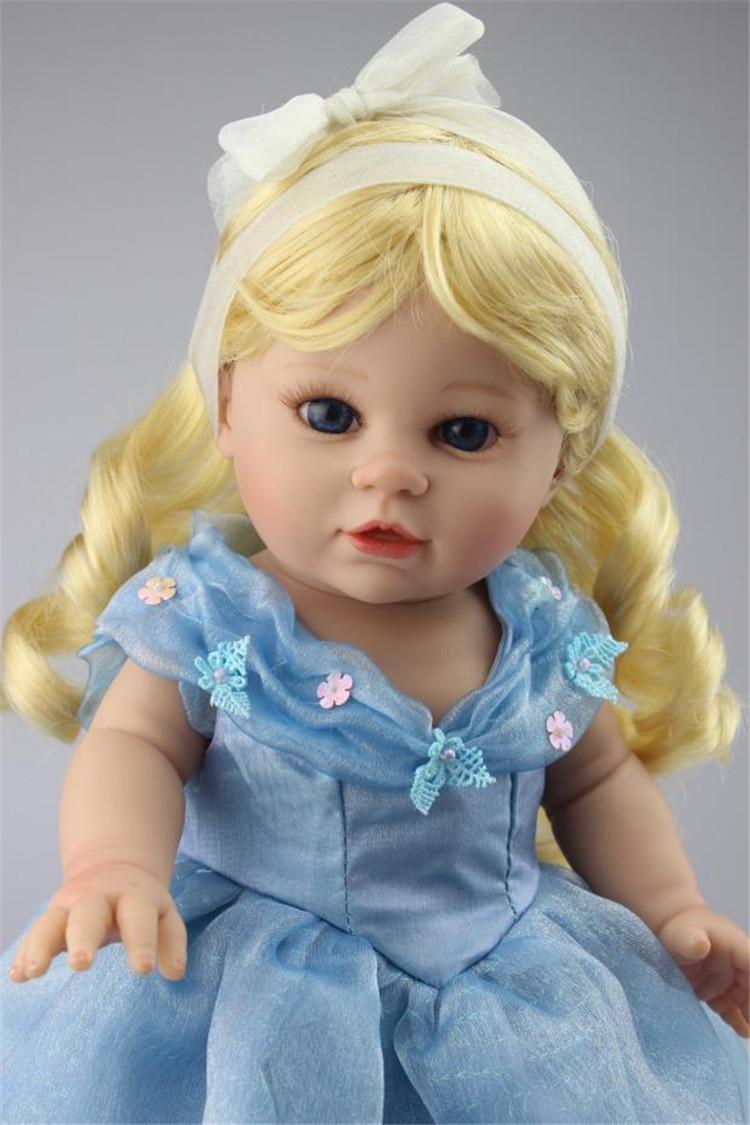 NPK 16 inch silicone American Girl Dolls baby reborn Hobbies Baby Alive Doll For Girls Toys boneca reborn
