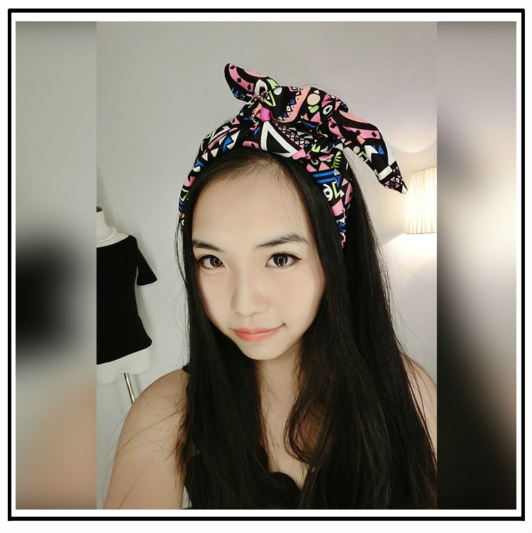 New Pink Native Aztec Geometric Print Bendy Wire Hair Wrap Wired Headband BOHO Pin Up Hairband Vintage Hair Accessories(China (Mainland))
