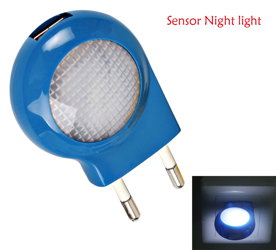 Cute Mini 0.7W LED Night lights Auto Sensor Smart lighting Control lamp AC110V - 240V Emergency Nightlight For Baby Bedroom Gift(China (Mainland))