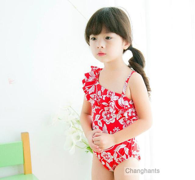 acheter nouveau mod le b b fille maillots de bain une pi ce classique fleur. Black Bedroom Furniture Sets. Home Design Ideas