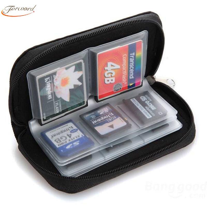 Forward 2016 New Hot Sale Memory Card Storage Wallet Case Bag Holder SD Micro Mini 22 Slots Camera Phone Freeshipping&Wholesale(China (Mainland))