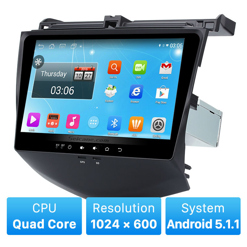 10.1 Inch Android 5.1 head unit for 2003-2007 Honda Accord 7 Bluetooth Radio GPS Navigation System with 3G WiFi Mirror Link OBD(China (Mainland))