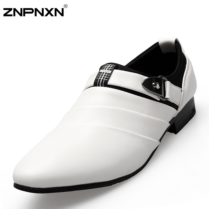2015 New White Classic Office Shoes Men Formal Business Shoes Flats Men Fashion Shoes Chaussure Homme Espadrilles Fast Shipping