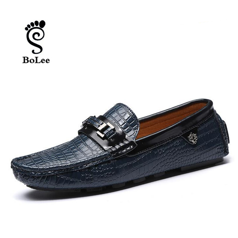 Top quality men flats men moccasins shoes genuine leather men flat shoes casual loafers slip on driving shoes