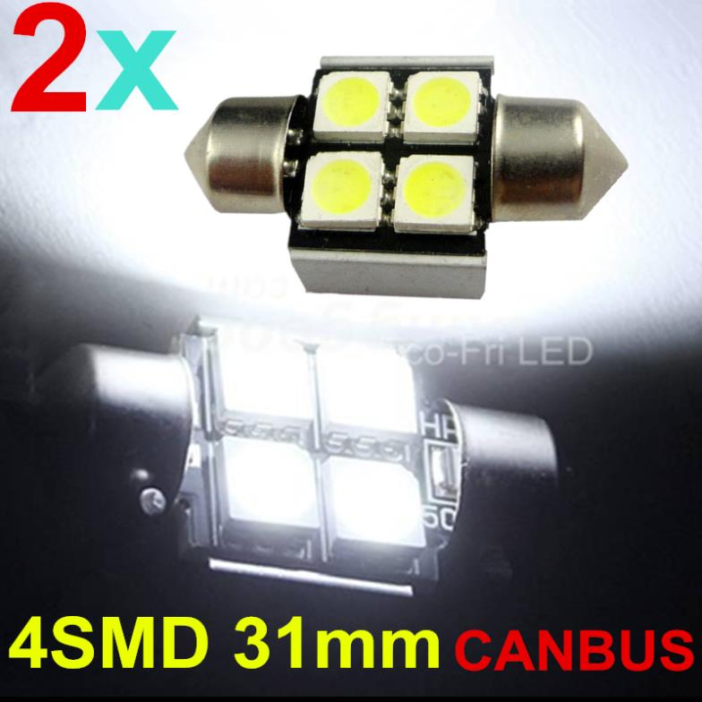 Верхнее освещение Eco-Fri LED BOMBILLAS COCHE C5W 31 4 5050 SMD CANBUS 2pcs источник света для авто eco fri led canbus c5w 36 3 smd de3423 6418 3led 12v bmw audi benz