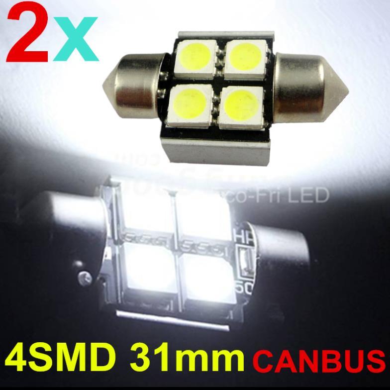 Верхнее освещение Eco-Fri LED BOMBILLAS COCHE C5W 31 4 5050 SMD CANBUS 2pcs источник света для авто eco fri led 4pcs t10 501 w5w canbus 4 5050 smd 1 cree