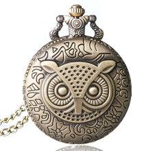 2015 New Necklace Chain Flower Enamel Pocket Watch Bronze P569(China (Mainland))