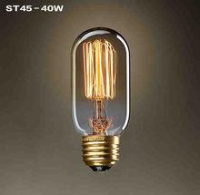 Одиночный Американский винтажный подвесной светильник медный держатель лампы Эдисона промышленные лампы E26/E27 110-220 В 110 см старинные лампоч...(China)