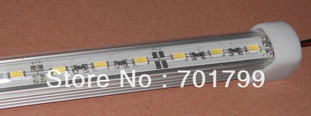 1m long 5630 led rigid bar light;U type,with PC cover;DC12V input;60leds per meter;30W