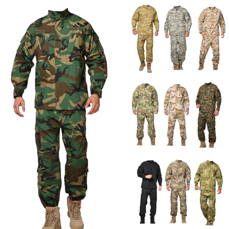 Military-ACU-woodland-camo-Uniform-army-combat-uniform-hunting-suit-Wargame-uniform-COAT-PANTS
