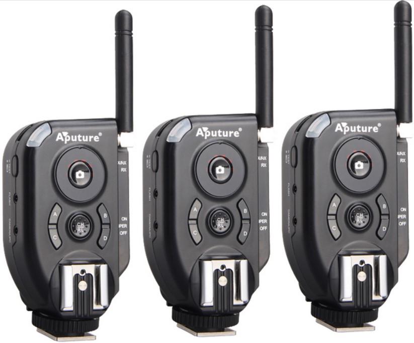 aputure 2.4G Trigmaster Plus II TXII Flash Trigger 1 transmitter+ 2 Receivers For canon nikon pentax olympus DSLR camera(China (Mainland))