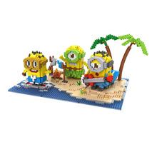 LOZ Despicable Me Minifigures Island Paradise Cartoon Anime Minion Model DIY Action Figures Assembly Diamond Bricks Toy