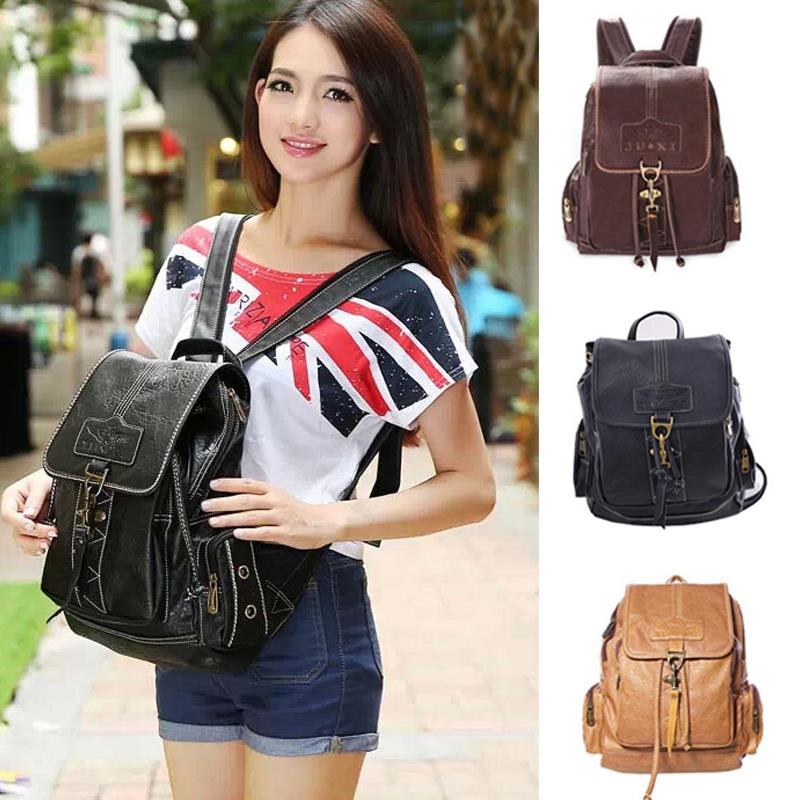 2015 small pu leather backpack female for girl vintage black casual womens backpack school bag ladies travel bag brown yellow<br><br>Aliexpress
