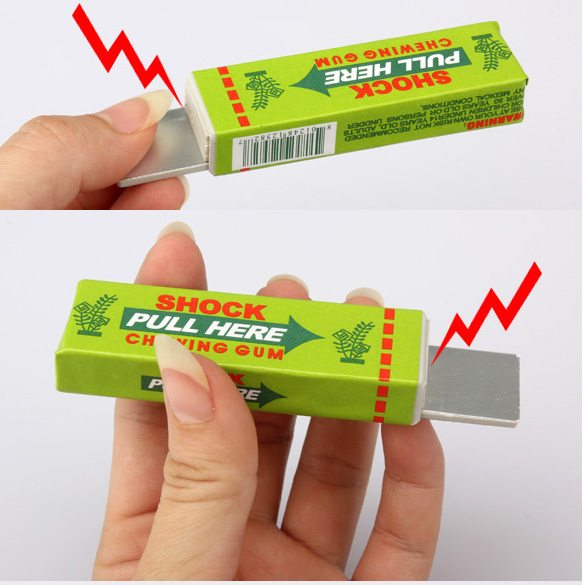 Electric Shock Joke Chewing Gum Pull Head Shocking Toy Gift Gadget Prank Trick Gag Funny FCI#
