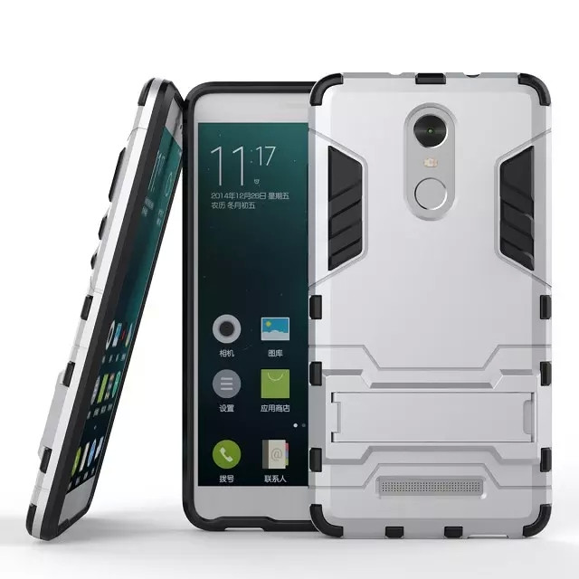 New Arrival Cool Iron Man Armor Dual Phone Cases For Xiaomi Redmi Note 3 Back Cover With Kickstand For Redmi Note 3 Pro Prime (