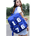 2016 new arrival women number backpacks high quality nylon lady travel bag high school college student