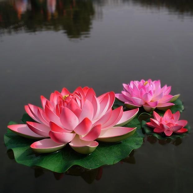 Wedding Bouquets Lotus Flower : Cm diameter large artificial lotus flower pool floating