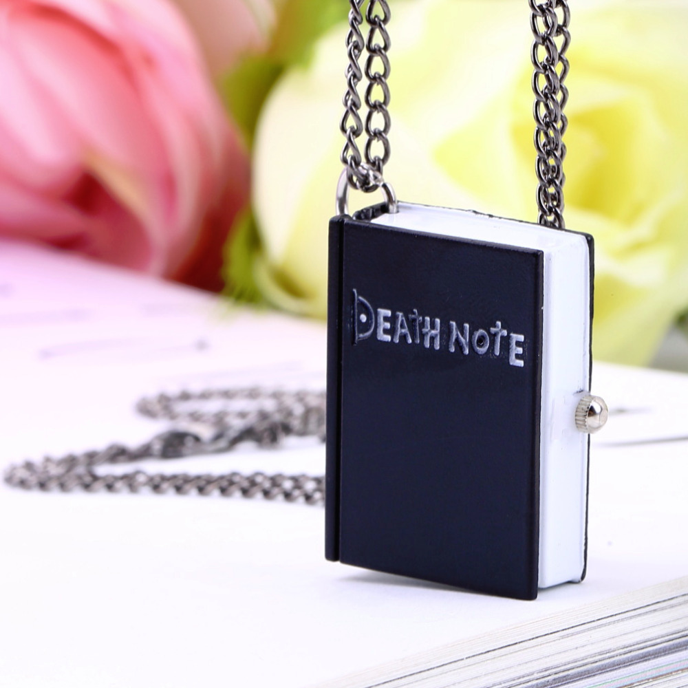 1pcs Hot Worldiwde Vintage Unique Death Note Book Quartz Pocket Watch Pendant Necklace Gift Hot Popular<br><br>Aliexpress