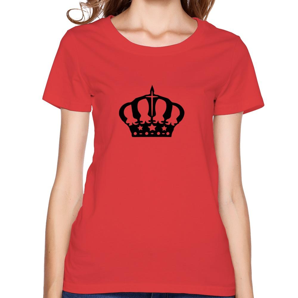 Crown 5 top brand t shirt gift organic cotton womens hip for Best t shirt women