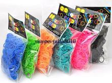 new rubber band normal color loom bands  300pcs + 12 S clip + 1 hook 11 colors available(China (Mainland))