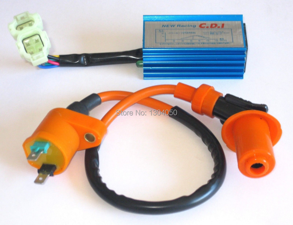 Performance CDI IGNITION COIL SET For YERF DOG SPIDERBOX 150 150CC GO KART NEW(China (Mainland))