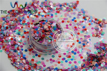 RG3-63 Mixed Pearlescent Color Ultra Thin Solvent Resistant Circle Shape Glitter for nail and DIY decoration -Size : 3MM(China (Mainland))