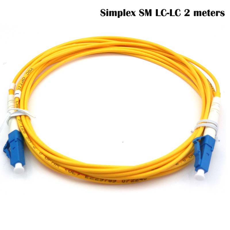 LC-LC fiber connectors patchcord Optical jumper FTTH single mode Simplex 2 meters LC/UPC-LC/UPC-SM-2.0-2m  -  fmcomm Store store